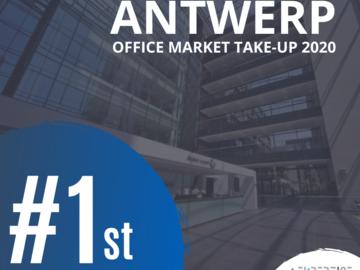 1e plaats Office market take-up Antwerpen